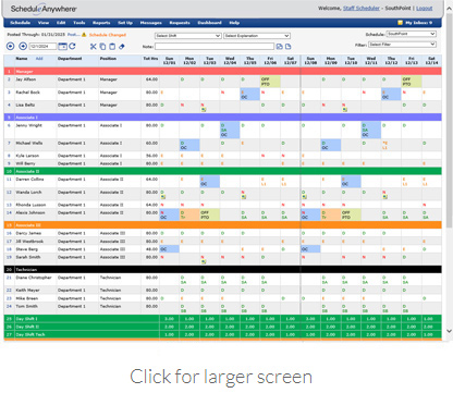 Staff friendly scheduling software