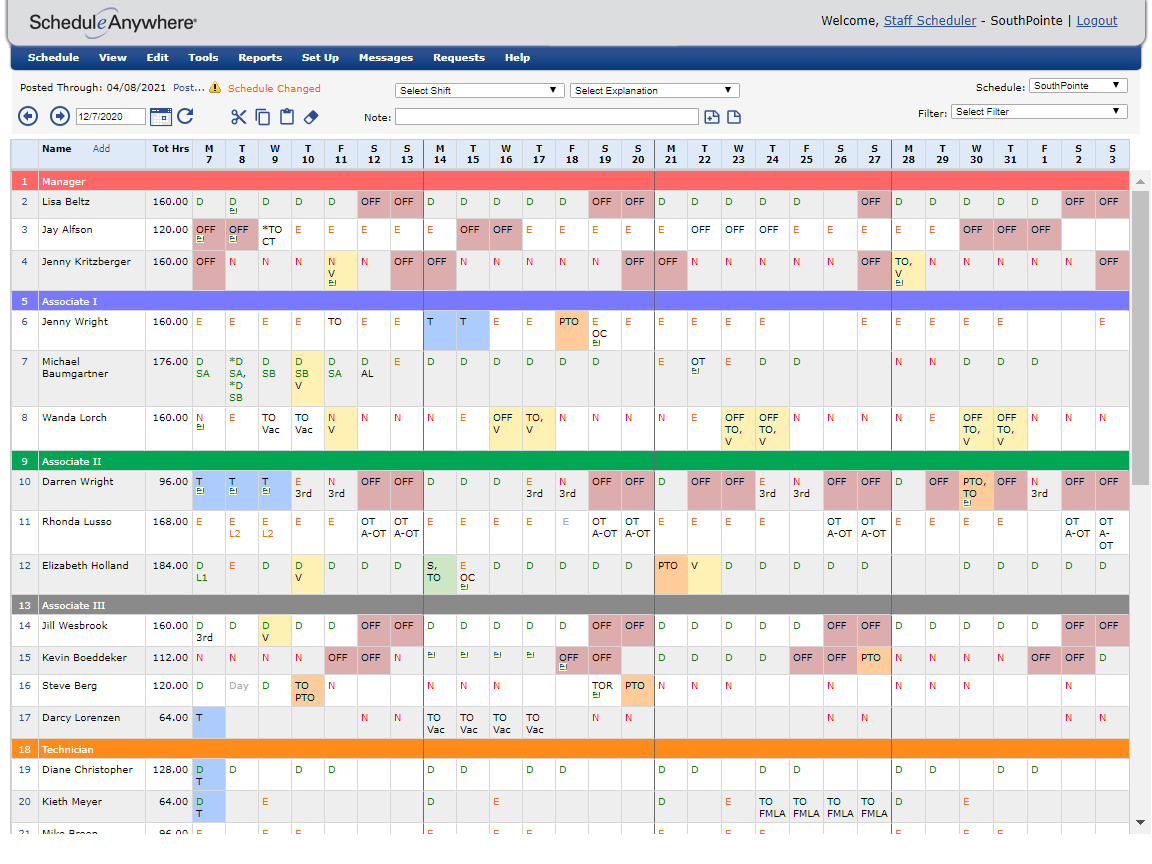 flexible employee scheduling software | scheduleanywhere