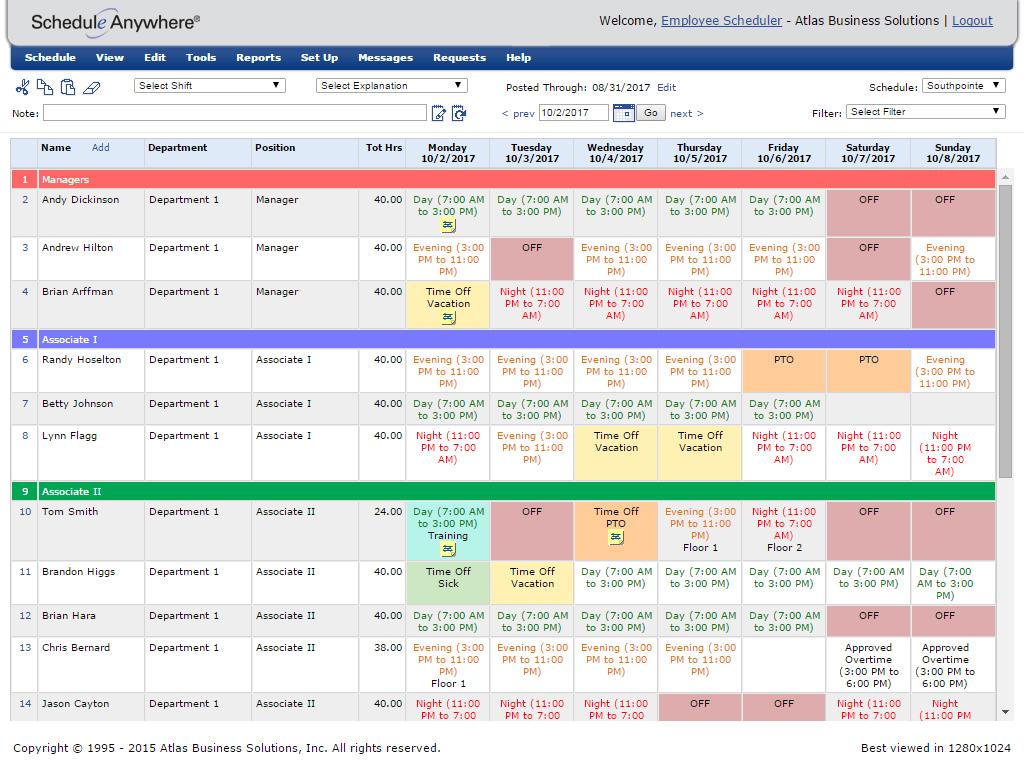 Employee Scheduling Software   Staff Planning   ScheduleAnywhere