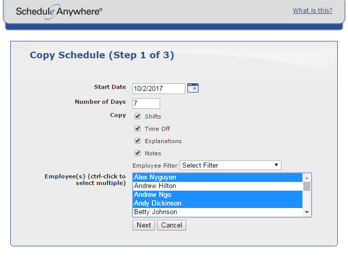 Employee Scheduling Software  Scheduleanywhere